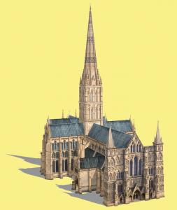 Historia del cemento: Catedral de Salisbury