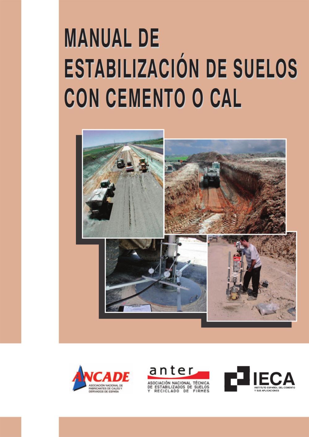 Manual de estabilización de suelos con cemento o cal