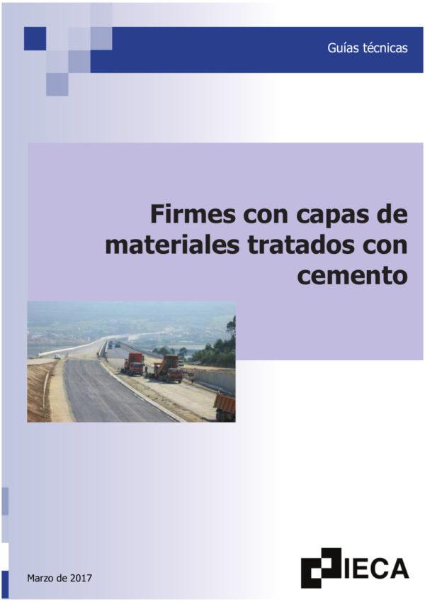 Firmes con capas de materiales tratados con cemento para carreteras